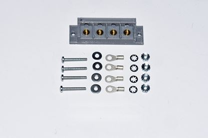 4 Terminal Tab Mount Connector Block Kit